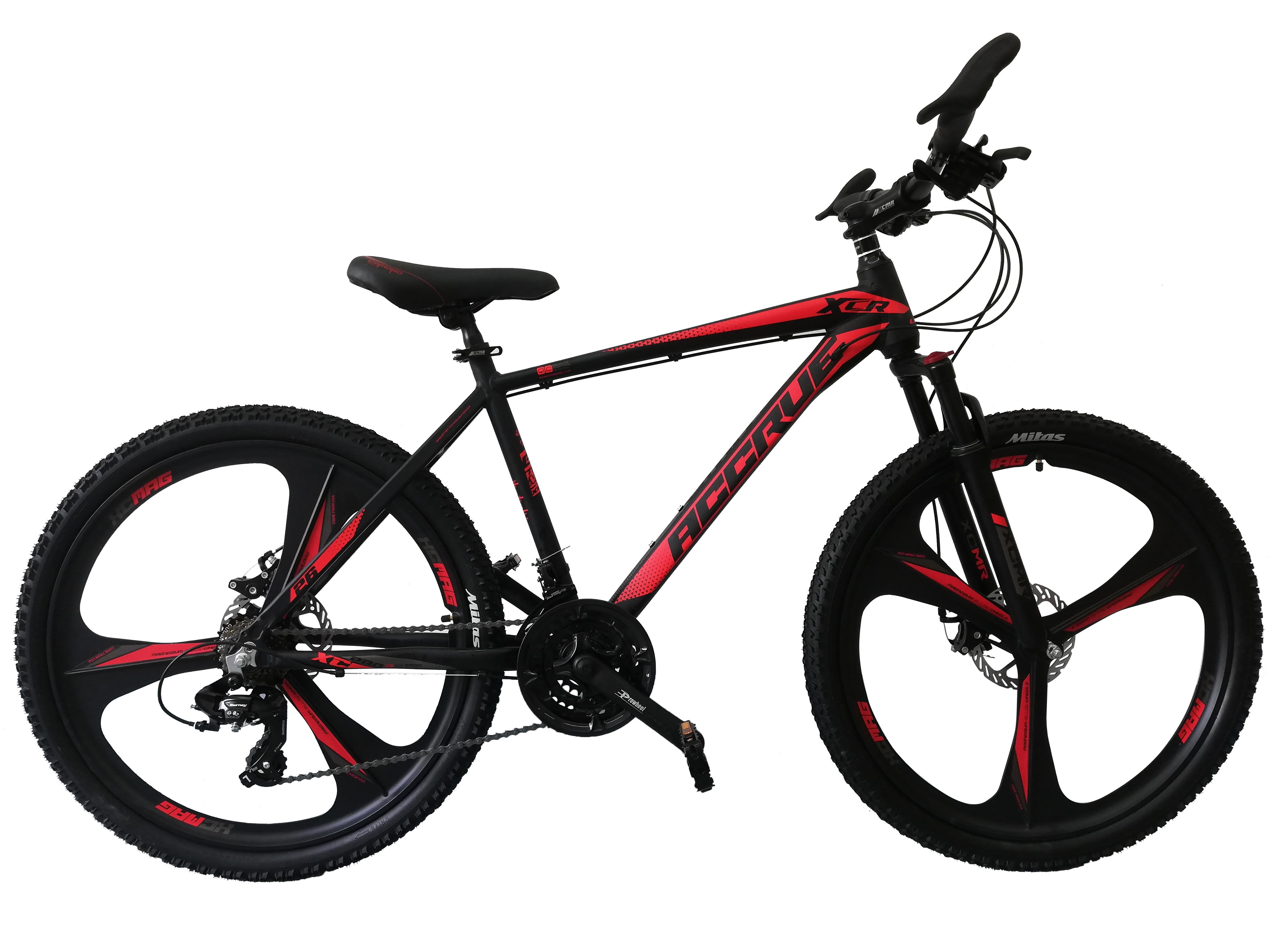 """Bicicleta MTB Umit Accrue 2D , Cadru 18"""" , 21 Viteze , Culoare Negru/Rosu Roata 26"""" [0]"""