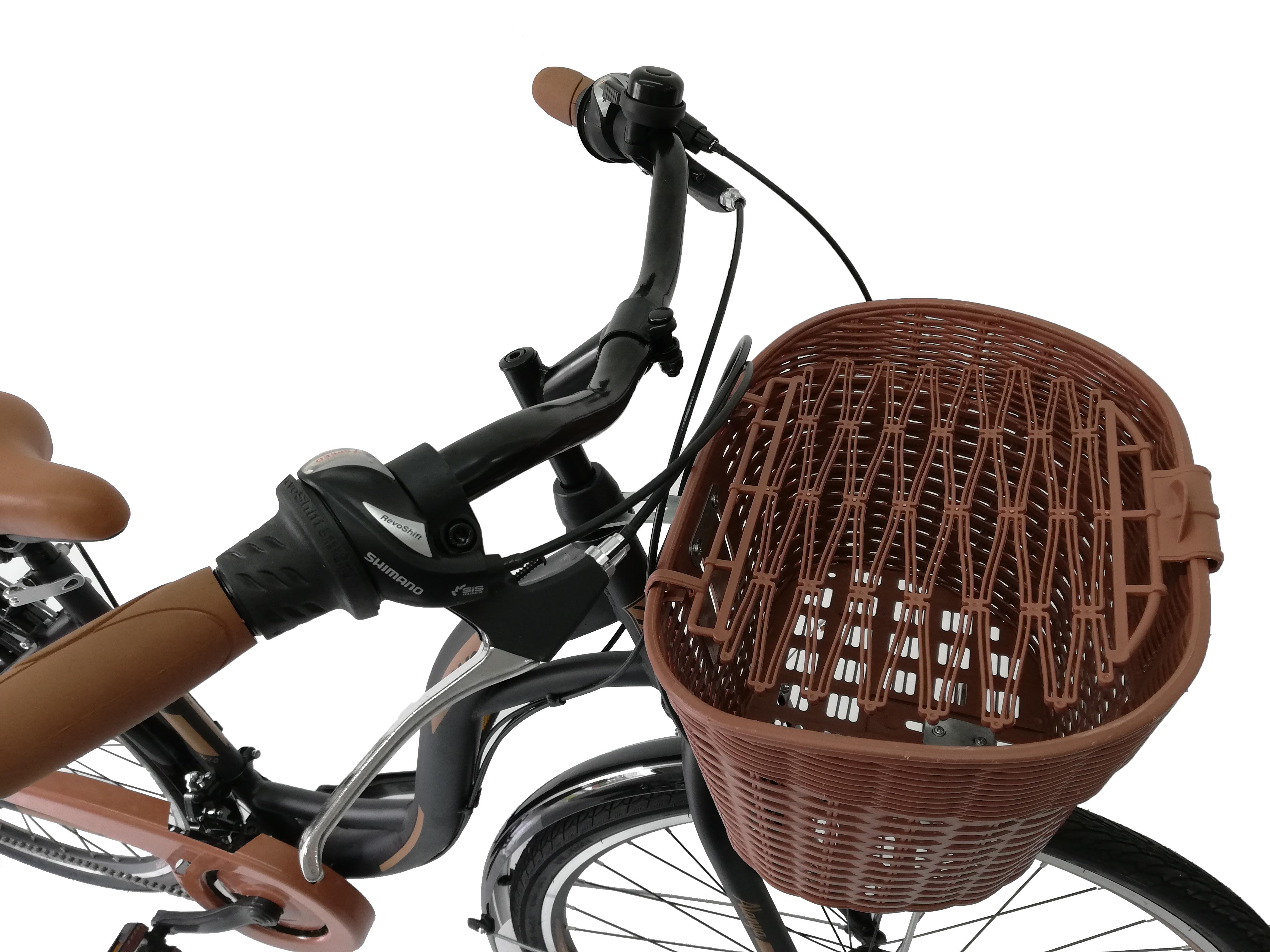 "Bicicleta City Umit Alanya , Culoare Negru/Verde  , Roata 28"" Otel [3]"