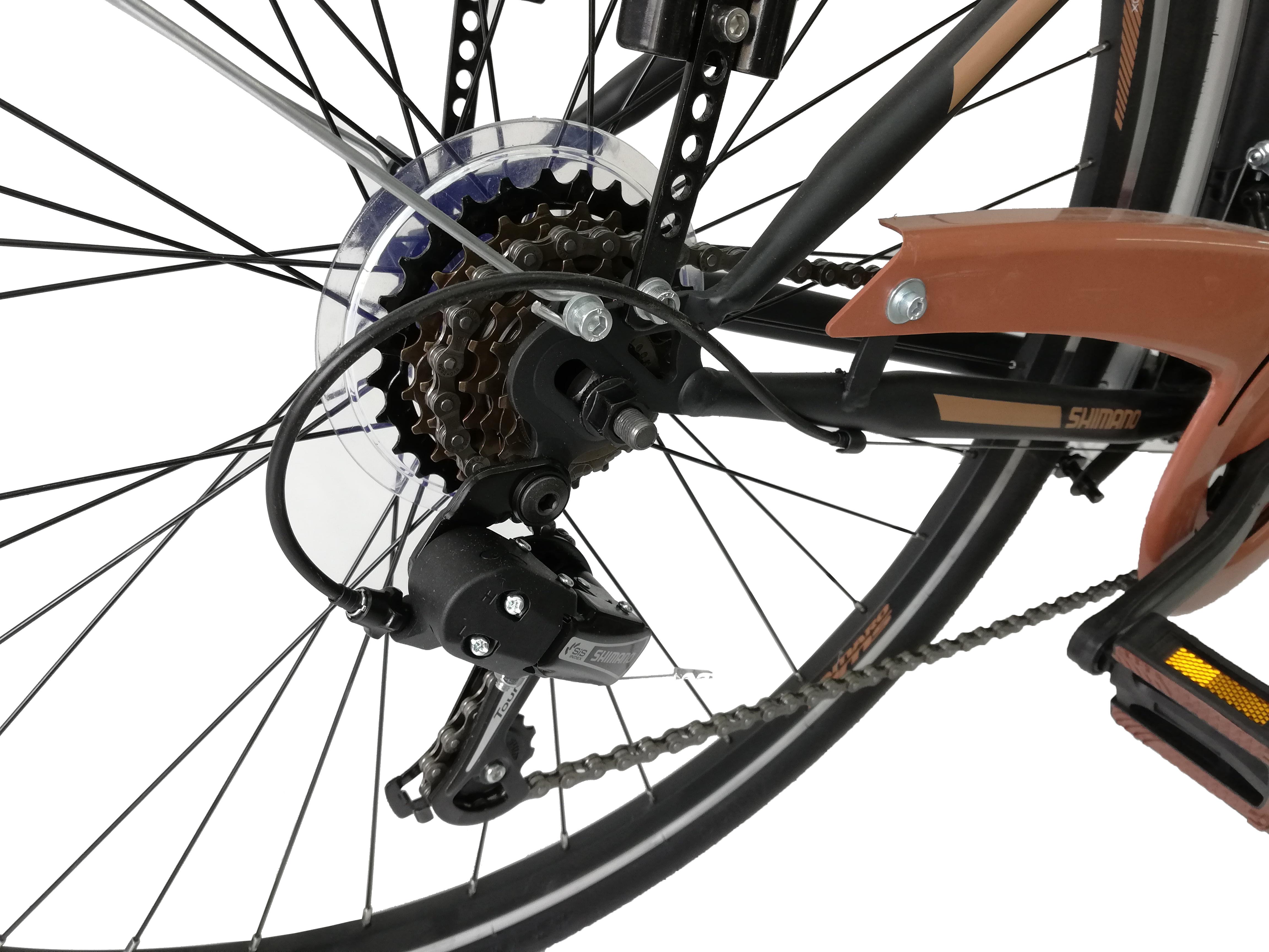 "Bicicleta City Umit Alanya , Culoare Negru/Verde  , Roata 28"" Otel [2]"