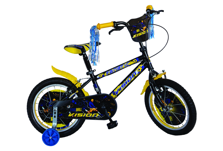 """Bicicleta Copii Vision Fanatic , Culoare Negru/Albastru Roata 16"""" Otel [0]"""