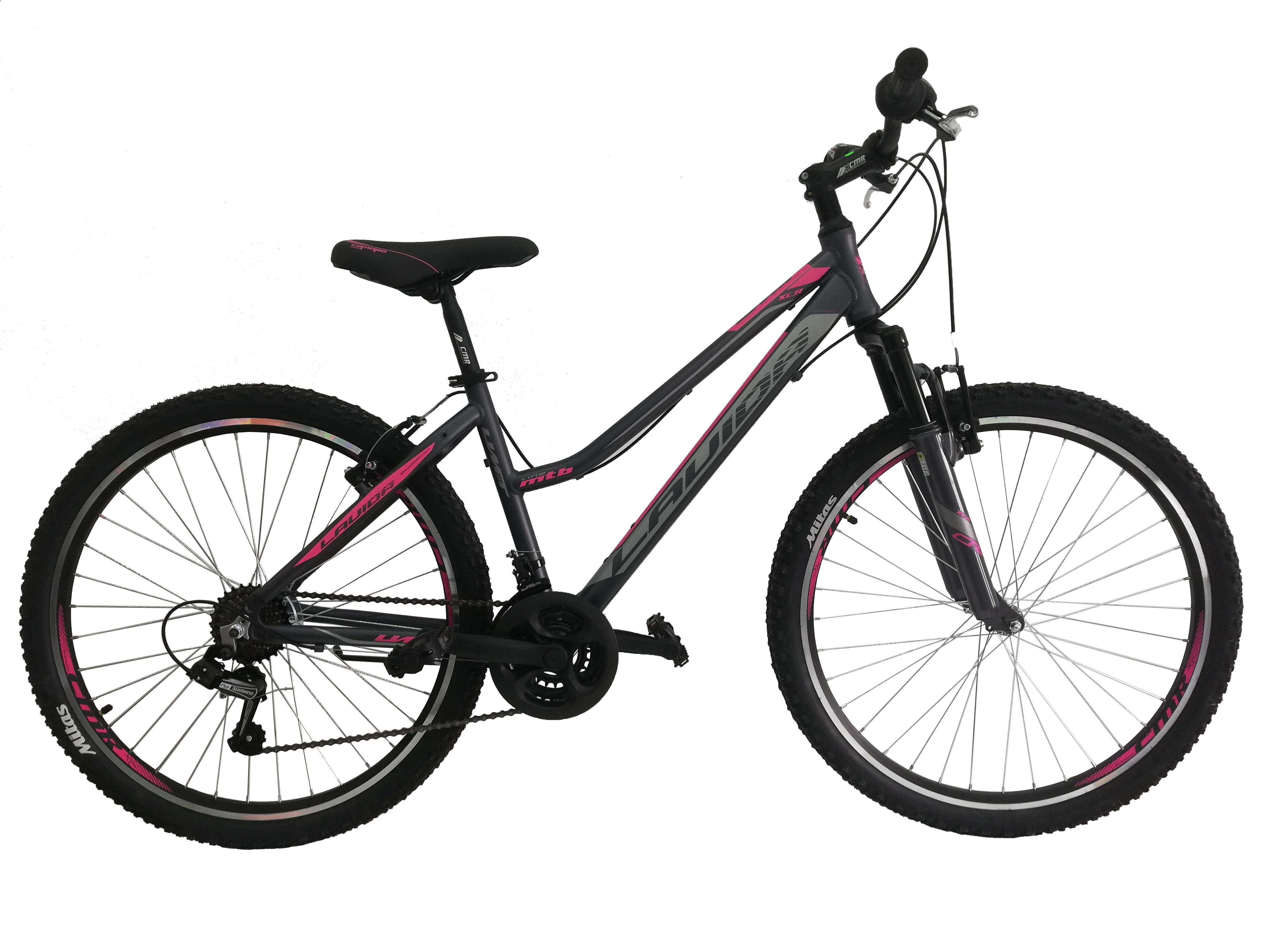 "Bicicleta MTB Umit Lavida Lady, Gri/Roz, Roata 26"", Cadru Aluminiu [0]"
