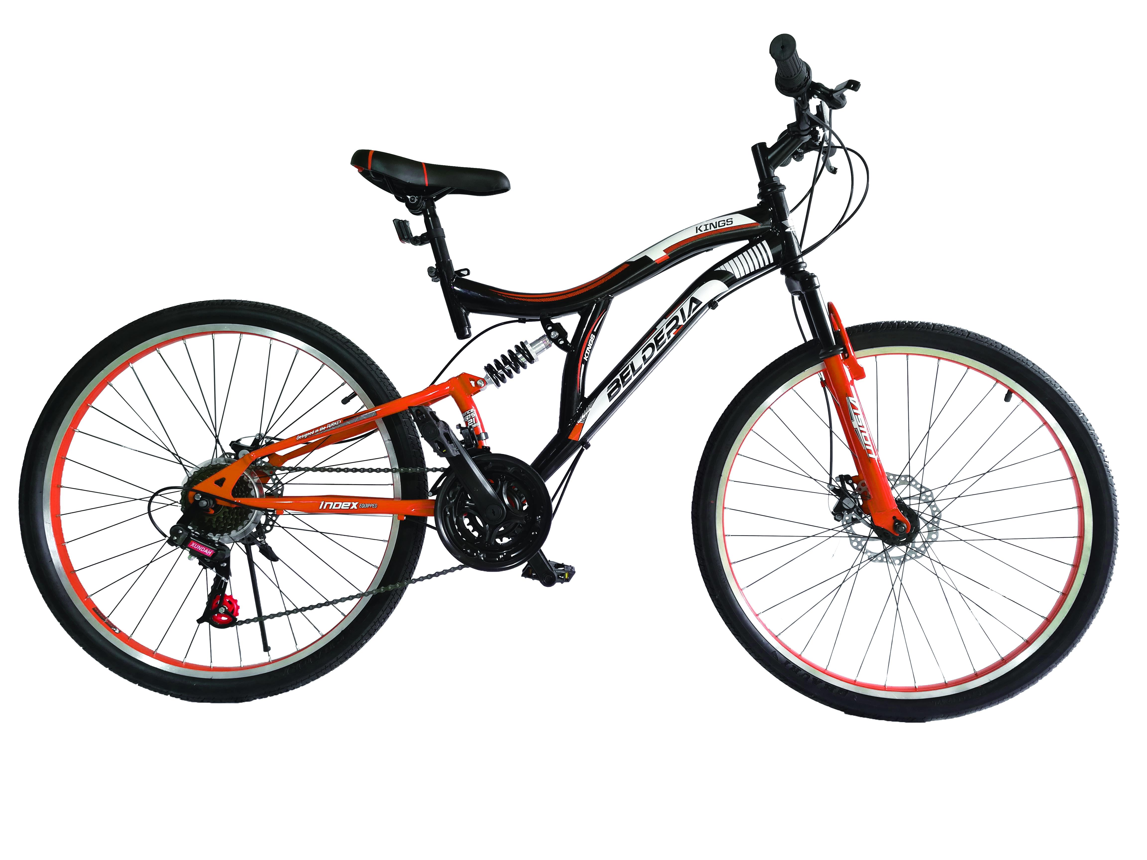 "Bicicleta MTB Full Suspensie Vision Kings 2D Culoare Negru/Alb Roata 26"" Otel [0]"