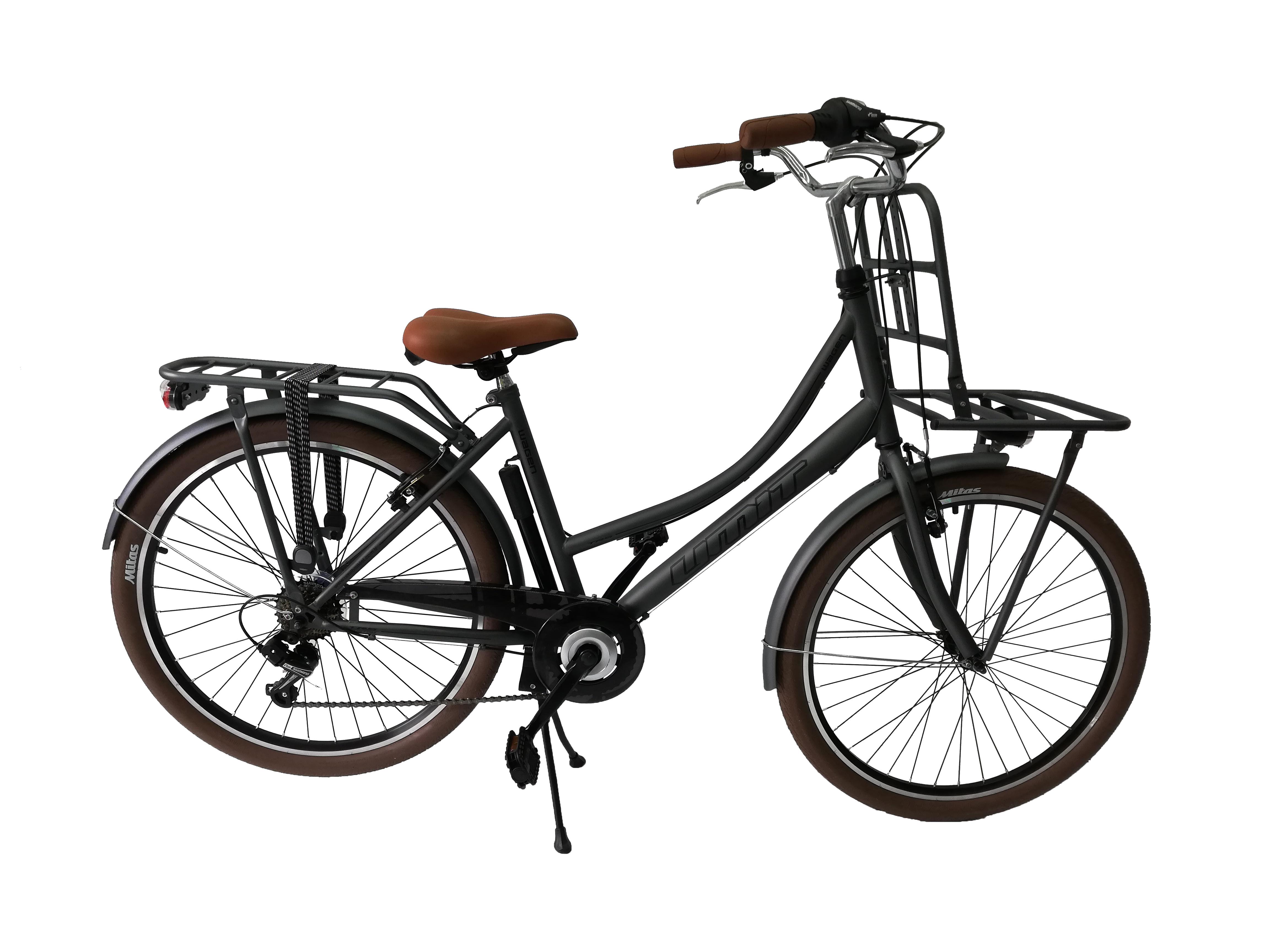 "Bicicleta City Umit Wagen Lady, Culoare Gri, Roata 26"" Otel [0]"