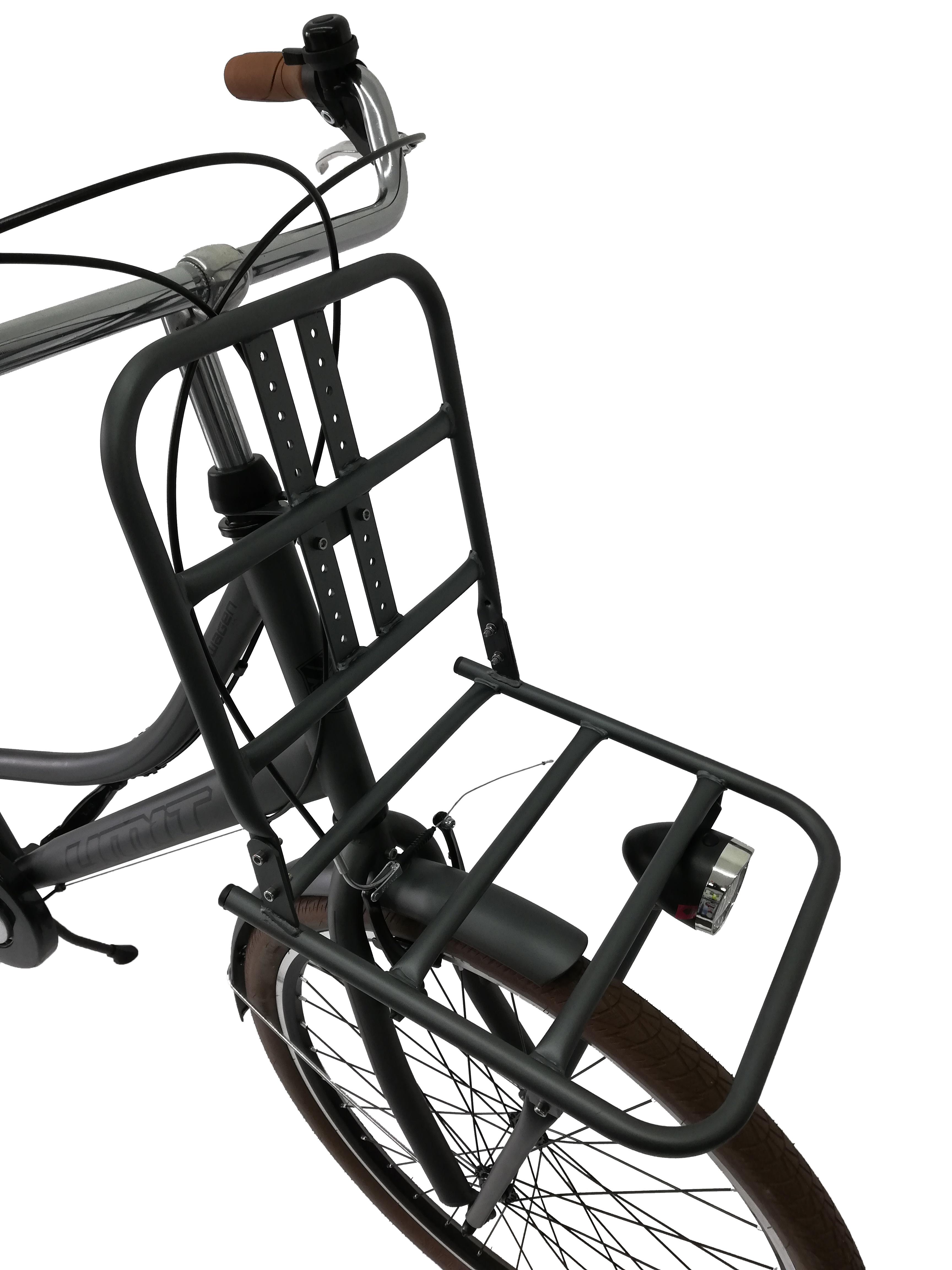 "Bicicleta City Umit Wagen Lady, Culoare Gri, Roata 26"" Otel [1]"