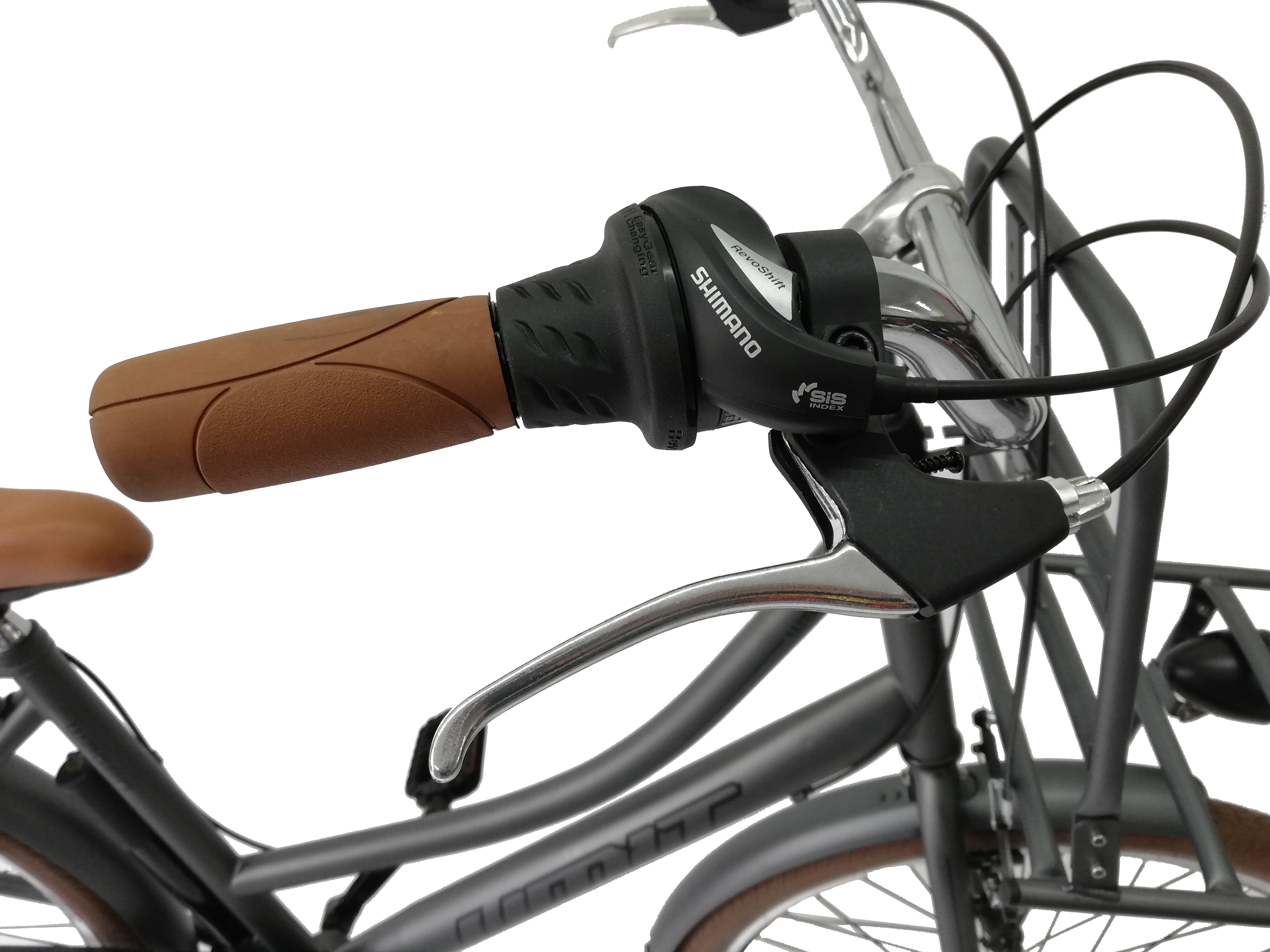 "Bicicleta City Umit Wagen Lady, Culoare Gri, Roata 26"" Otel [3]"