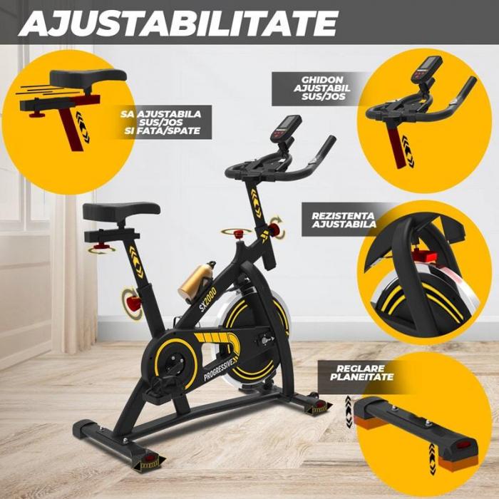 Bicicleta fitness spinning PROGRESSIVE SX2000 [1]