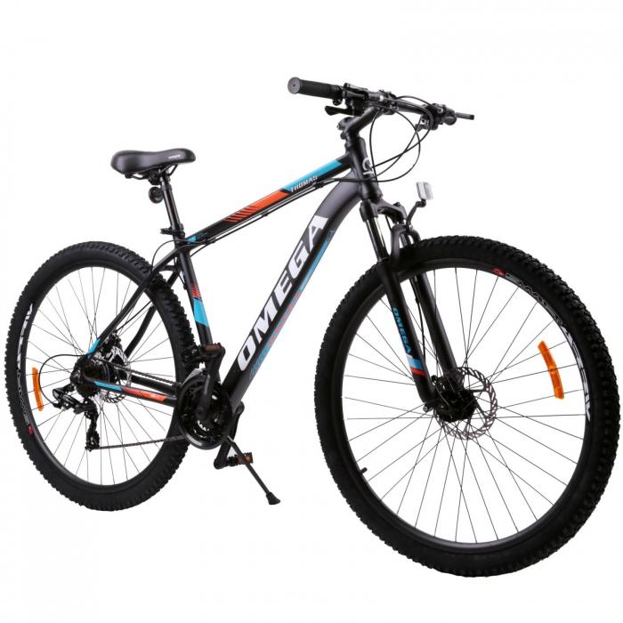 """Bicicleta mountainbike Omega Thomas 27.5"""", cadru 49cm, negru/portocaliu/alb [0]"""