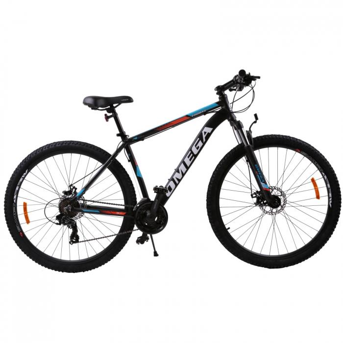 """Bicicleta mountainbike Omega Thomas 27.5"""", cadru 49cm, negru/portocaliu/alb [1]"""