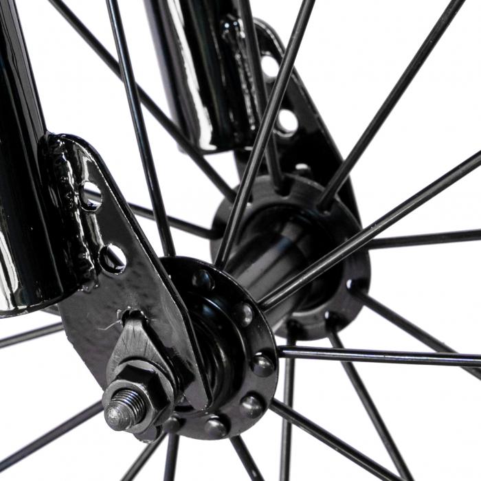 "Bicicleta baieti RICH BABY R14WTA, roata 14"", roti ajutatoare cu LED, 3-5 ani, culoare negru/albastru  [5]"