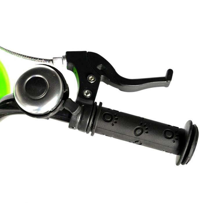 """Bicicleta baieti RICH BABY R20WTB, roata 20"""", 7-10 ani, culoare negru/verde [8]"""
