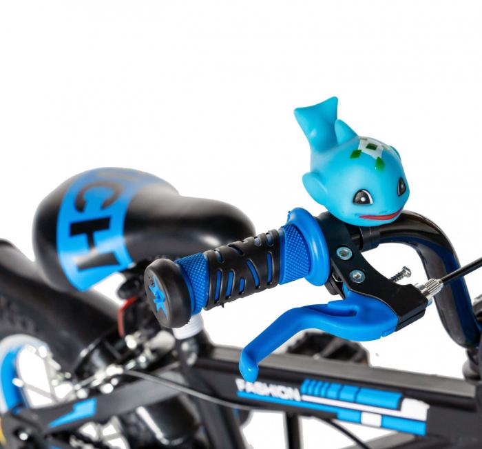 "Bicicleta baieti Rich Baby T1602C, roata 16"", C-Brake, roti ajutatoare, 4-6 ani, negru/albastru [4]"