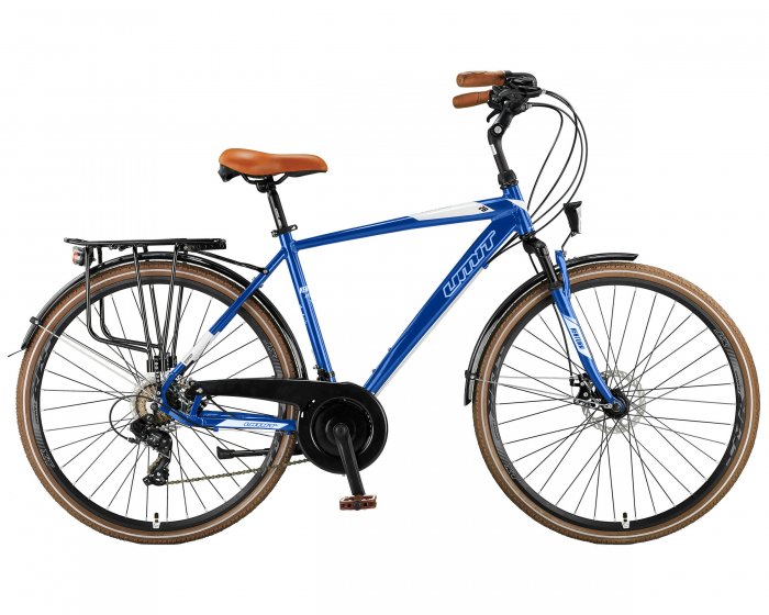 """Bicicleta City Umit Ventura M-510-ATB-S-2D-21-SHIM, Culoare albastru, Roata 28"""", Cadru aluminiu [0]"""
