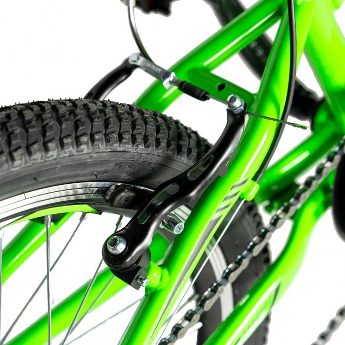 Bicicleta copii 20 inch RICH Alpin R2049A, 6 viteze, tip frana V-Brake, culoare verde/negru, varsta 7-10 ani [2]