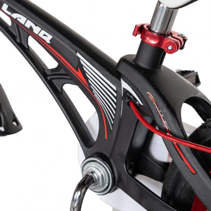 "Bicicleta copii Rich Baby W1246D, roata 12"", cadru aliaj magneziu, frana C-Brake, roti ajutatoare, 2-4 ani, negru/rosu [6]"