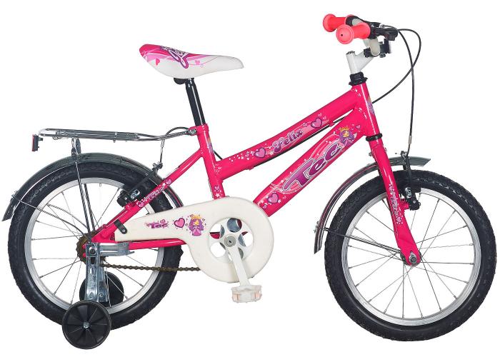 "Bicicleta Copii TEC Felix Culoare roz ,Roata 16"" Otel [0]"