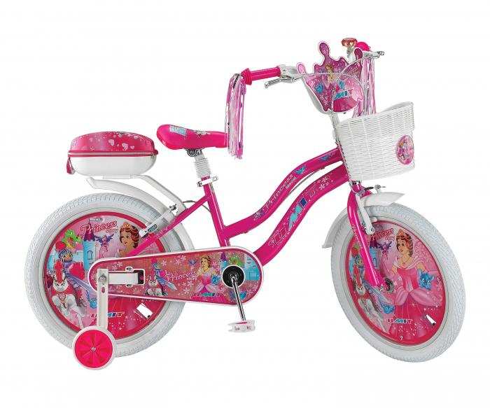 "Bicicleta copii UMIT Princes , culoare roz , roata 20"" , otel [0]"