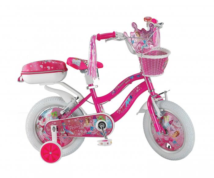 "Bicicleta copii UMIT Princess , culoare roz , roata 12"" , otel [0]"