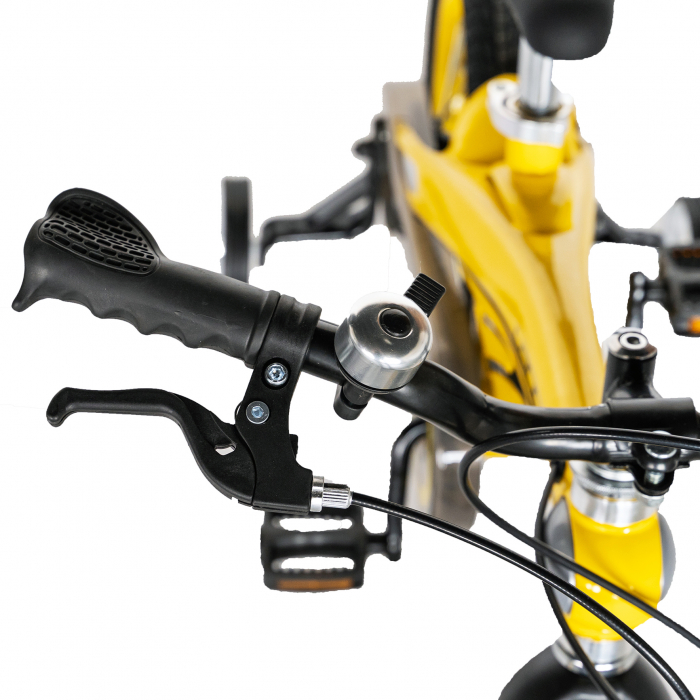"Bicicleta copii W1639D, roata 16"", cadru aliaj magneziu, frana C-Brake, roti ajutatoare, 4-6 ani, galben/negru [9]"