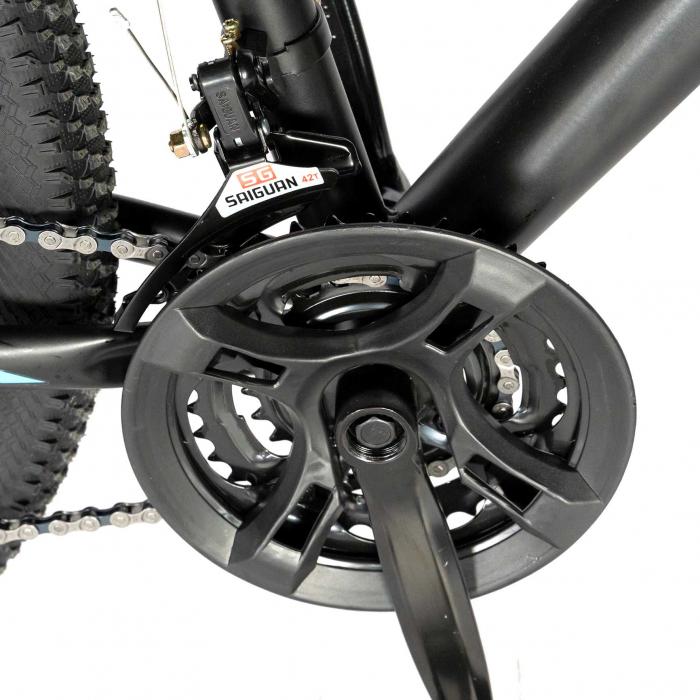 "Bicicleta de munte Velors V2610A, roata 26"", frana disc, 18 viteze, negru/alb/portocaliu [3]"