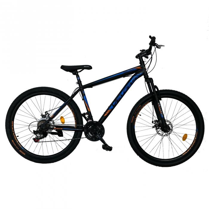 "Bicicleta de munte VELORS V2710A, roata 27.5"", frana disc, 18 viteze, negru/albastru/portocaliu [0]"
