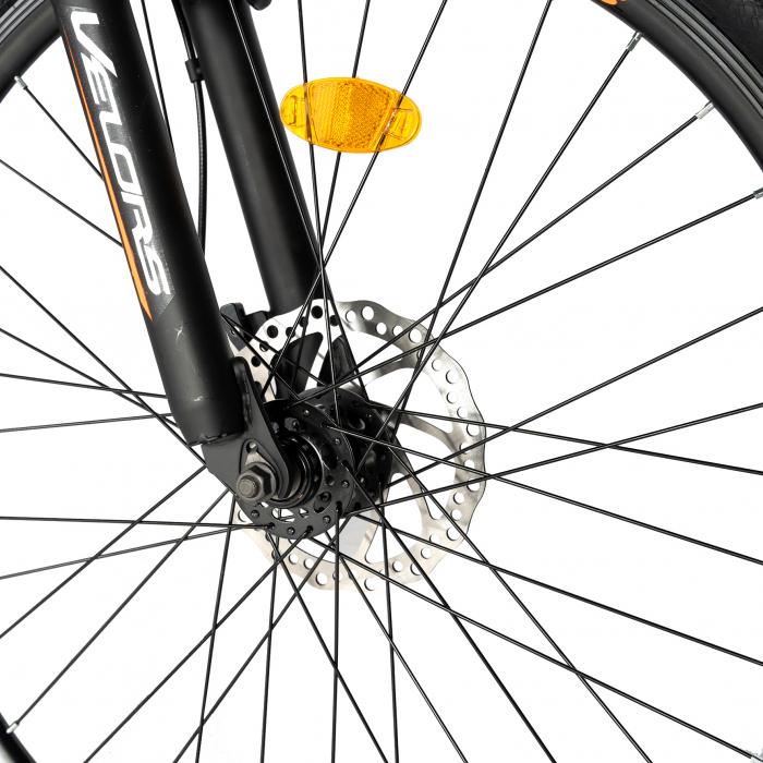 "Bicicleta de munte VELORS V2710A, roata 27.5"", frana disc, 18 viteze, negru/albastru/portocaliu [3]"