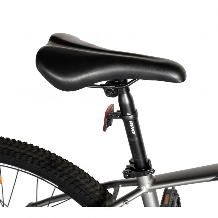 """Bicicleta electrica MTB (E-BIKE) CARPAT 27.5"""" C1007E, cadru aluminiu, frane mecanice disc, echipare SHIMANO 21 viteze, culoare gri/negru [1]"""