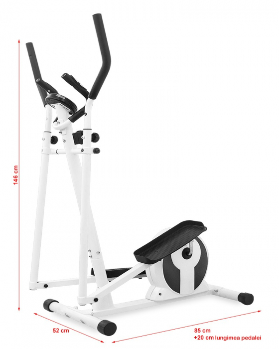 Bicicleta eliptica Hiton Ocelot alba [2]