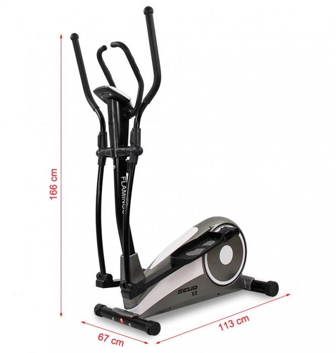 Bicicleta eliptica Scud X8 Flamingo [2]
