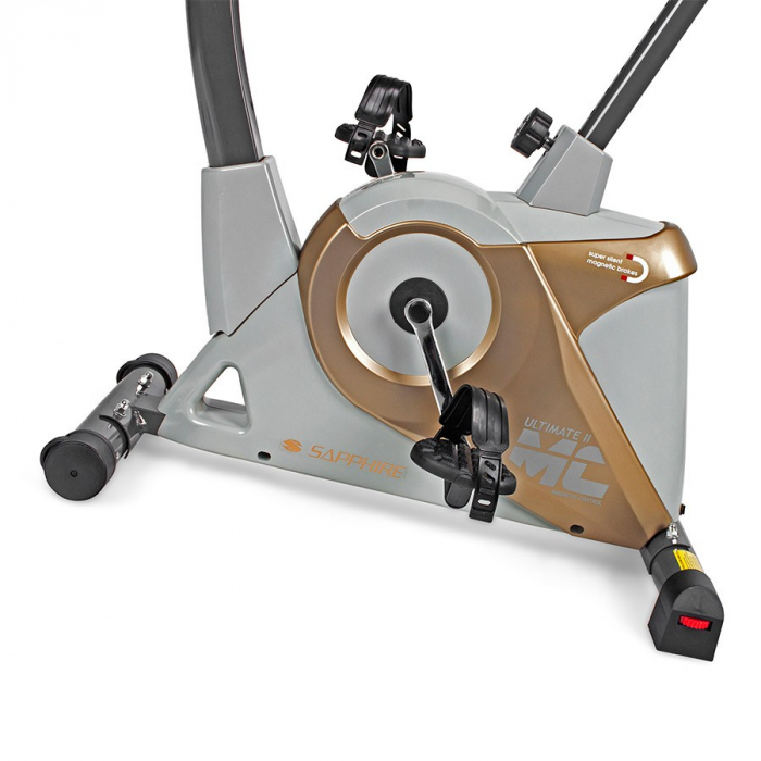 Bicicleta ergometru ULTIMATE II SG 922B- grafit/galben [3]