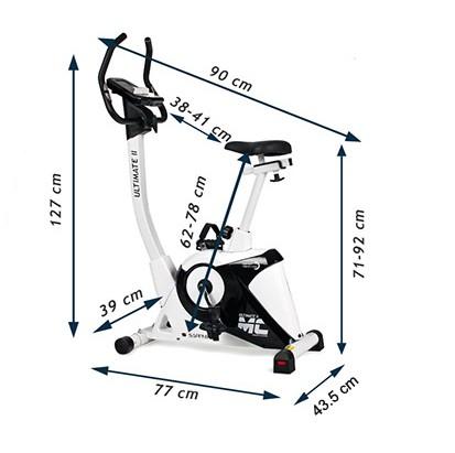 Bicicleta ergometru ULTIMATE II SG 922B- grafit/galben [2]