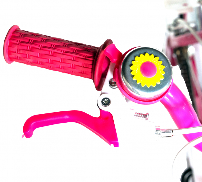 "Bicicleta fete Rich Baby T1205C, roata 12"", C-Brake,  roti ajutatoare, 2-4 ani, fucsia/alb [4]"