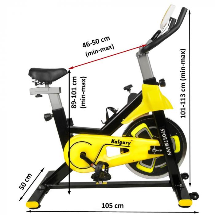 Bicicleta fitness indoor cycling Sportmann Kalgary [1]