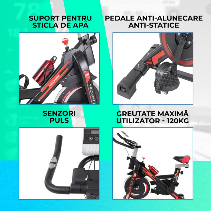 Bicicleta fitness spinning Techfit SBK1500 [5]