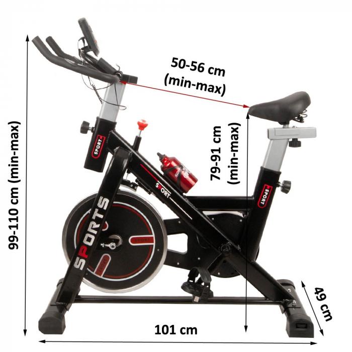 Bicicleta fitness indoor cycling Sportmann Junno [9]