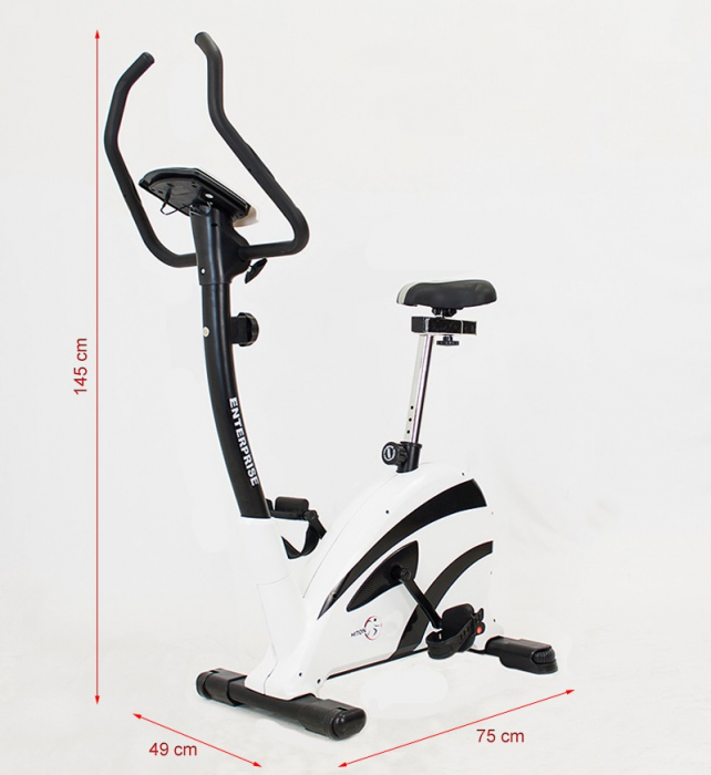 Bicicleta magnetica Enterprise-alba  [3]