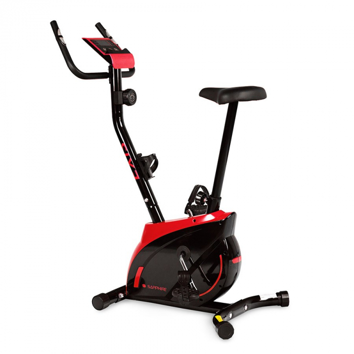 Bicicleta magnetica EXIS SG-300B- negru/rosu [0]