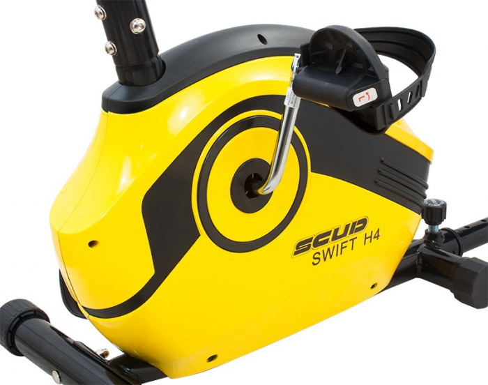 Bicicleta magnetica recumbent Scud Swift H4-galbena [4]