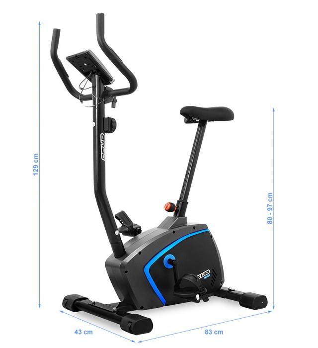 Bicicleta magnetica Scud V-Fit- negru/albastru [4]