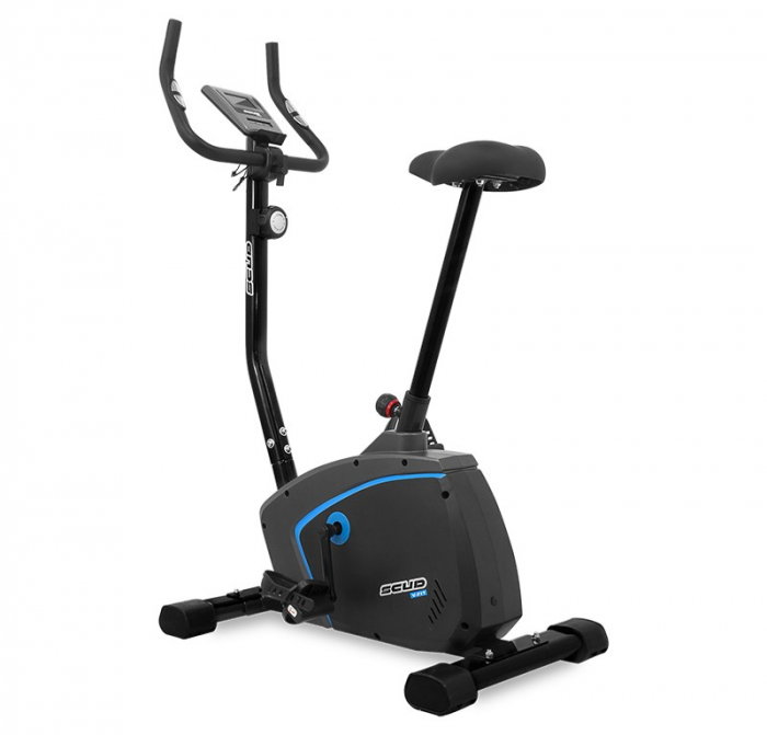 Bicicleta magnetica Scud V-Fit- negru/albastru [0]