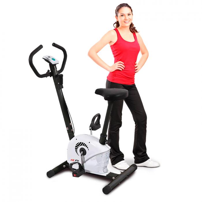 Bicicleta fitness mecanica AB Fit MB1.3 alb [0]
