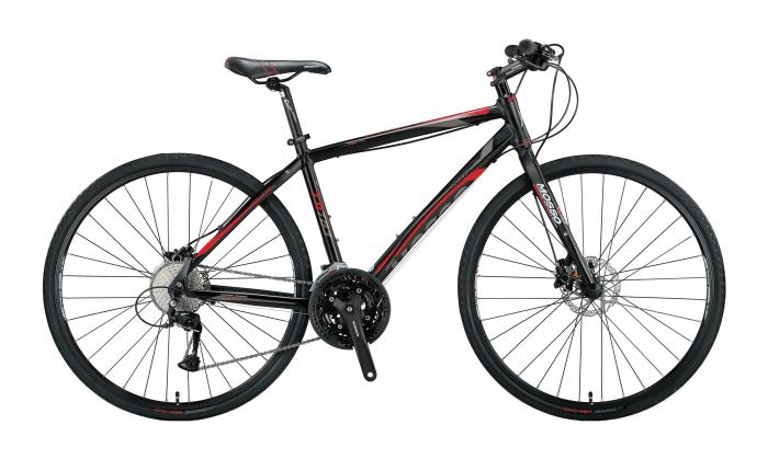 """Bicicleta Mosso 771TB3 Acera Hidraulic, Roata 28"""", Cadru 20"""", Cadru Aluminiu, Culoare  Negru/Rosu [0]"""