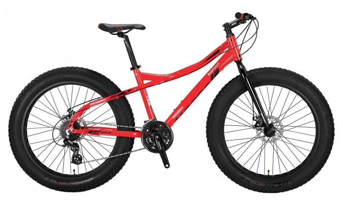 """Bicicleta Mosso BICICLETE>Biciclete fat bike 2D , roata 26"""" , Aluminiu, culoare Rosu [0]"""