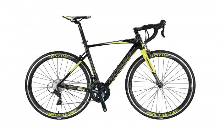 """Bicicleta Mosso Cursiera Cavalier Sora Roata 28"""" , 18 Viteze , Cadru 540mm Aluminiu, Culoare negru/Lime [0]"""