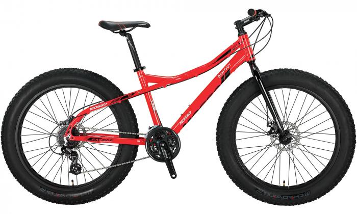"""Bicicleta Mosso FatBike Hidraulic, Roata 26"""", Cadru Aluminiu, Culoare Rosu [0]"""