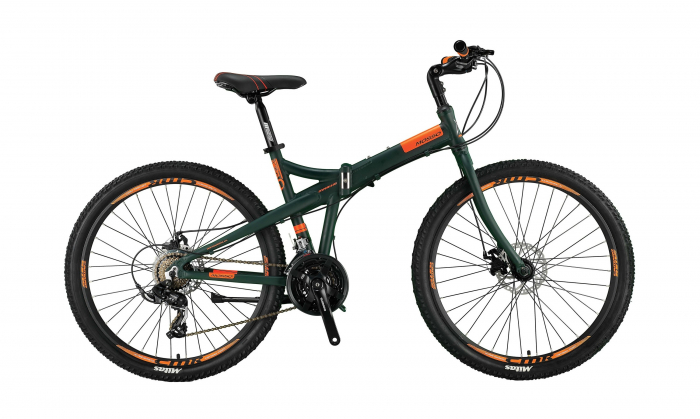 "Bicicleta Mosso Marine 2D pliabila, Aluminiu , Roata 26"" , Culoare Gri/Portocaliu [0]"