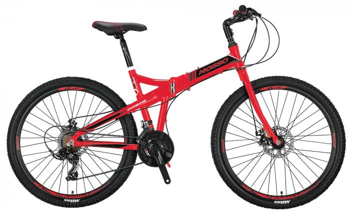 """Bicicleta Mosso Marine 2D pliabila, Aluminiu , Roata 26"""" , Culoare Negru/Rosu [1]"""