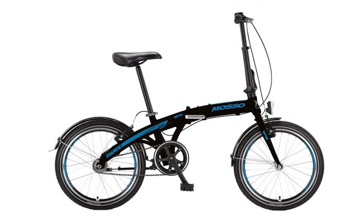 """Bicicleta Mosso Marine SR2 12 pliabila cadru aluminiu roata 20"""" culoare negru/albastru cu schimbator in butuc [0]"""