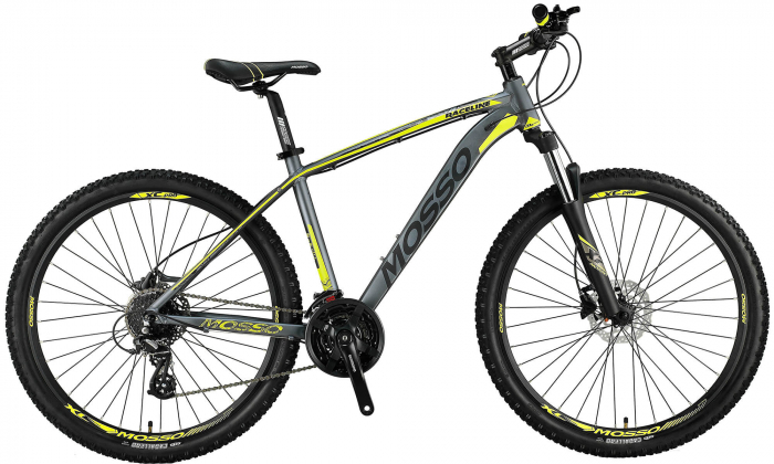 """Bicicleta Mosso RaceLine Hidraulic ,Roata 27.5"""" 24 Viteze Cadru 20"""" Culoare gri/lime [0]"""