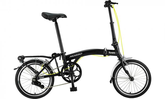 """Bicicleta Mosso Town 2D-pliabila cadru aluminiu roata 16"""" culoare negru/verde [0]"""