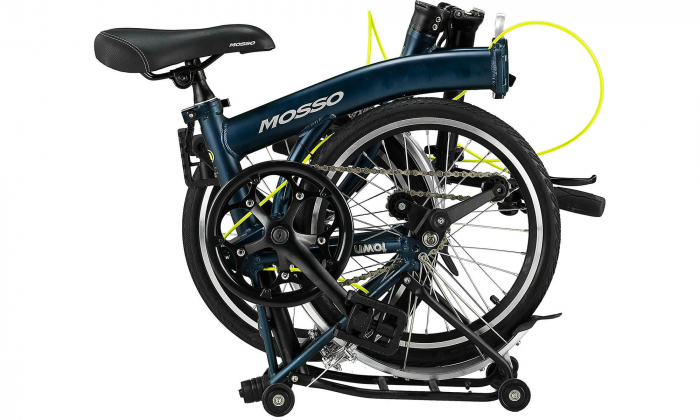 """Bicicleta Mosso Town 2D-pliabila cadru aluminiu roata 16"""" culoare negru/verde [1]"""